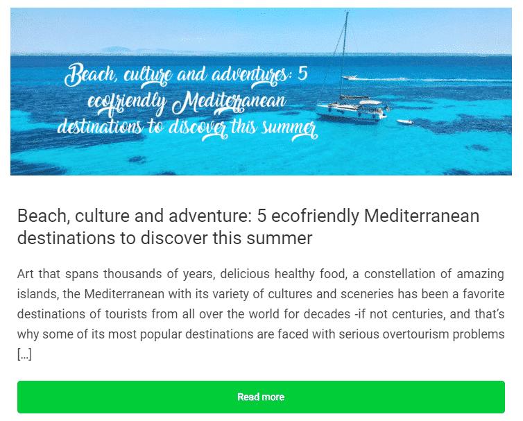 5 ecofriendly Mediterranean destinations to discover this summer Wayaj
